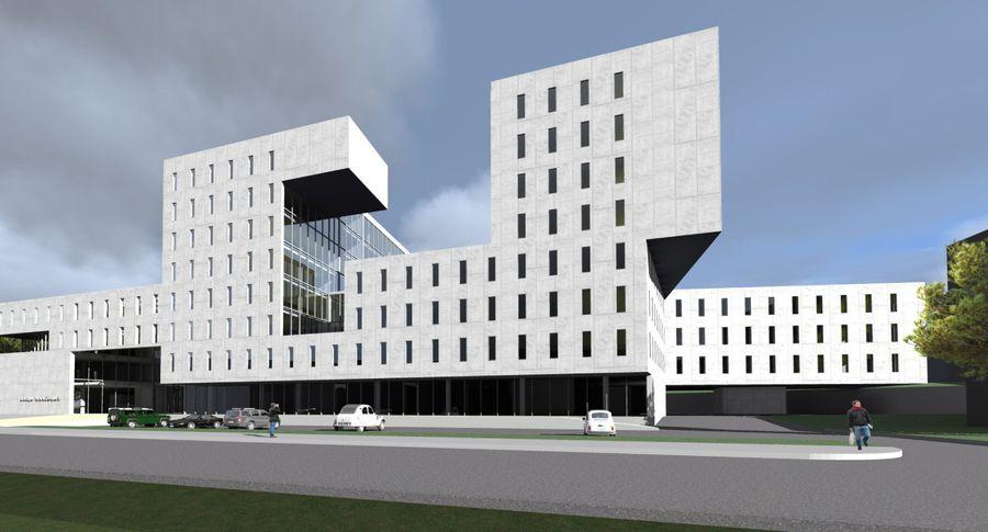 АО E-Betoonelement проектирует и производит элементы нового здания суда