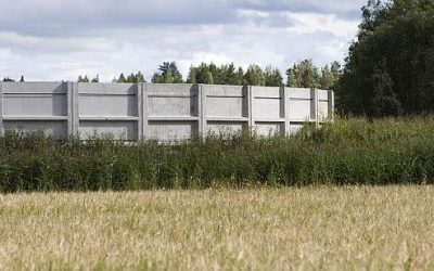 CABRO team is setting up a 6,000 m3 Acontank™ farm container in Saaremaa