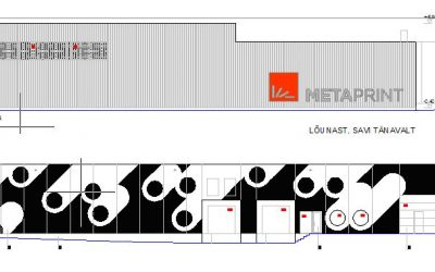 AS E-Betoonelement assembles the third production and warehouse building of Metaprint AS
