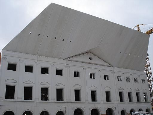 AS E-Betoonelement lõpetas eksklusiivsete Narva Kolledži fassaadielementide paigalduse