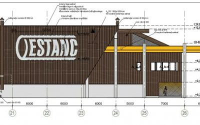 AS E-Betoonelement designs, manufactures and assembles elements of AS Estanc production building