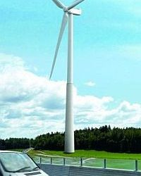 Wind generators are located more and more higher