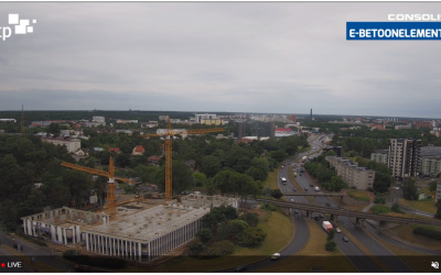 Now you can watch the completion of Järve Towers in real time