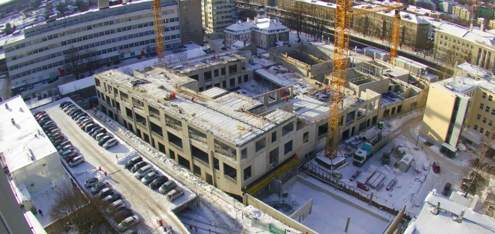 The Tallinn School of Music and Ballet will be completed despite freezing weather conditions